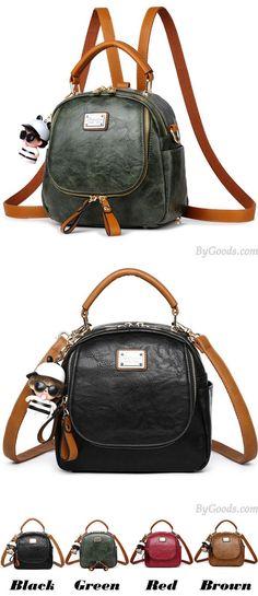 Retro Multi-function Small Square PU Shoulder Bag Handbag Backpack for big sale! #handbag #shoulder #retro #square #retro