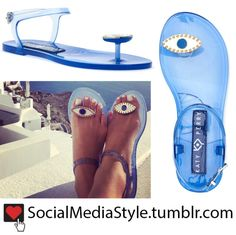 82da891e5cb8 Buy Katy Perry's Katy Perry Collections Blue Eye Embellished The Geli Jelly  Sandals, here!