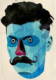 Alvaro Tapia Hidalgo, illustration and graphic design studio based in Chile Illustration Design Graphique, Art Et Illustration, Pop Art, Ouvrages D'art, Art Design, Artwork Design, Portraits, Contemporary Art, Character Design