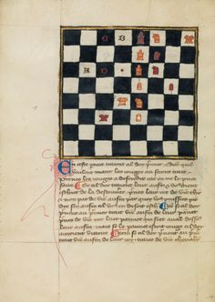 "thegetty: "" A book of chess problems from northern France. Medieval Games, Medieval Books, Medieval World, Medieval Manuscript, Medieval Art, History Of Chess, Chess Moves, Getty Museum, Chess Pieces"
