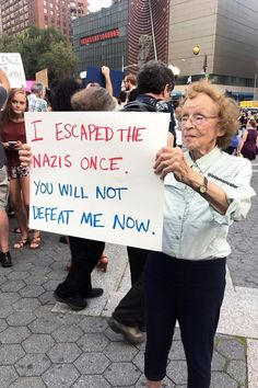 Why holocaust survivor Marianne Rubin is standing in solidarity with Charlottesville, Virginia. Change The World, In This World, Protest Signs, Holocaust Survivors, Power To The People, Humanity Restored, Hippie Man, Jolie Photo, Faith In Humanity
