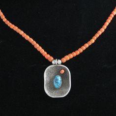 Coral & Kingman Necklace By Pat Bedoni