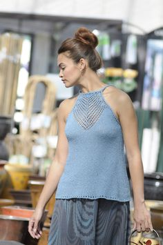 3.  Arrowhead Camisole - Knitting Daily  Would love to make this and add it to my summer wardrobe.