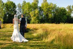 Rustic barn wedding, Salem, Oregon, lush field, summer
