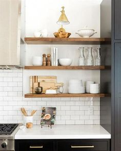 Boston Single Arm Library Light above shelves Home Decor Kitchen, Rustic Kitchen, Kitchen Furniture, Kitchen Ideas, Kitchen Designs, Country Kitchen, Kitchen Interior, Decorating Kitchen, Kitchen Layout