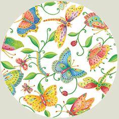 Parvaneh's Garden Paper Salad/Dessert Plates - 8 per package