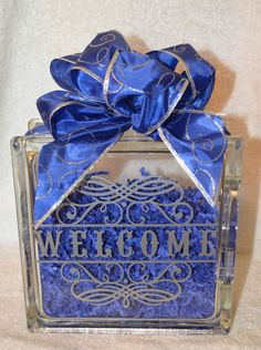 WELCOME GLASS BLOCK