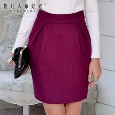 Buy Dabuwawa Zip-Back Pleated Skirt Casual Skirt Outfits, Basic Outfits, Office Outfits, Black Pleated Mini Skirt, Pleated Skirt, Modest Fashion, Fashion Dresses, Business Casual Attire, Tulip Skirt