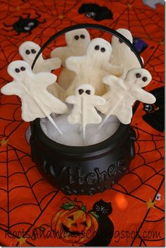Would it be strange to make these in brown?? Maybe I could make them from our safe chocolate and do them in spider shapes instead? I miss our family traditions this year, being far away from the family.