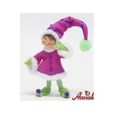 Annalee Mobilitee Doll Christmas Green Winter Whimsy Elf 9