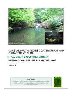 Coastal multi-species conservation and management plan : final draft, by the Oregon Department of Fish and Wildlife