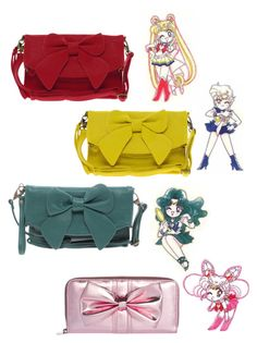 """Sailor Senshi inspired purses"" by sailormoonoutfits ❤ liked on Polyvore featuring Pieces, French Connection, women's clothing, women, female, woman, misses, juniors, sailor moon and sailor neptune"