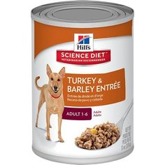Hill's Science Diet Adult Turkey and Barley Entree Dog Food, 13-Ounce Can, 12-Pack * Read more at the image link.