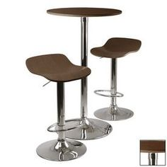 Winsome Wood Kallie Cappuccino And Metal Dining Set 93344