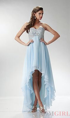 Inexpensive High Low Dress at PromGirl.com