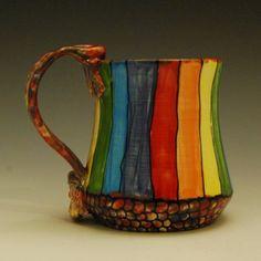 Rainbow Striped Mug