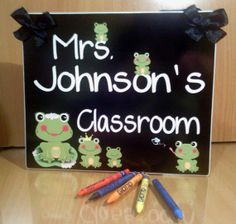 personalized lily pad frog themed teacher name by kasefazem, $15.99 Classroom Door Signs, Lily Pad, Teacher Name, Wall Plaques, Etsy Seller, Diy Crafts, Create, Unique, Handmade