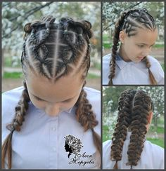 11 Different Hair Braid Styles for Little Girls Love Hair, Great Hair, Braided Hairstyles, Cool Hairstyles, Creative Hairstyles, Peinado Updo, Natural Hair Styles, Long Hair Styles, Beautiful Braids