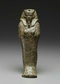 Serpentinite shawabty of King Senkamanisken. Nubian. Napatan Period. Reign of Senkamanisken. 643–623 B.C.   Museum of Fine Arts, Boston