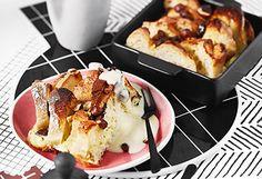 Schoko-Nuss-Auflauf mit Vanillesauce Strudel, Sweet Tooth, French Toast, Sweets, Snacks, Stollen, Breakfast, Desserts, Tiramisu