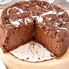 (Pressure Cooker) The Best Double Chocolate Cheesecake in the world. Why? Because it's made with brown sugar and some instant coffee for depth of flavor as well as both bittersweet chocolate and cocoa powder for chocolatey goodness. It is creamy, decadent and deliciious. | pastrychefonline.com