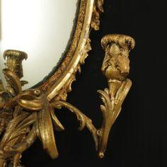 Specchiera stile Rococò - particolare