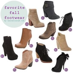 10 Must-Have (Budget-Friendly) Fall Booties... i must get!!