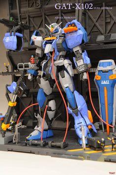 GUNDAM GUY: MG 1/100 GAT-X102 Duel Gundam - Maintenance Bay Diorama Build