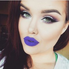 Love the eye makeup, not to sure about the lips though