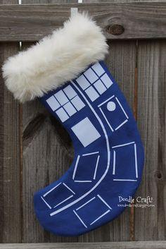 Doctor Who Christmas Stockings!  Tardis