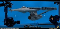 Rare Star Trek: The original series behind the scenes filming.starship models with blue prop background. Star Trek Models, Sci Fi Models, Star Wars, Star Trek Tos, Starfleet Ships, Star Trek Images, Star Trek Original Series, Spaceship Art, Star Trek Starships