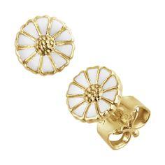 DAISY øreringer Daisy Bracelet, Daisy Ring, Grape Earrings, Women's Earrings, Pendant Earrings, White Enamel, Innovation Design, Kobe, Sterling Silver