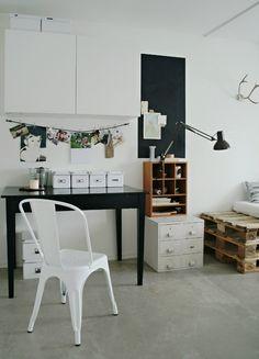 home office, modern interior design,