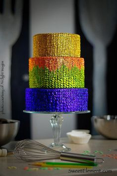 Handmade sequins cake by Sweet Element. Love this