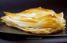 Feuilleté simplissime poire-pistache. Le feuilleté, qu'il soit sucré ou salé, est un jeu d'enfant avec la feuille de brick. Voici un dessert grand effet que vous pourrez servir avec une crème anglaise, sublime ! Spanakopita, Creme, Ethnic Recipes, Desserts, Food, Sweet Pie, Pistachio, Pineapple, Custard