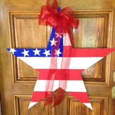 Flag day/ Fourth of July door hanger