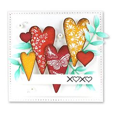 Product No: 30-204 Heart Swatches stamp set  Product No: 30-207 From the Heart stamp set