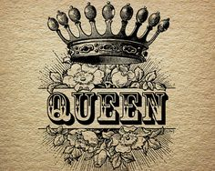 Queen Crown Royalty Roses Victorian Antique Digital Image Download Transfer To Pillows Tote Bags Tea Towels Burlap No. 0055 on Etsy, $2.00