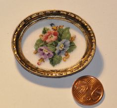 Miniature petitpoint Mini Cross Stitch, Barbie Accessories, Dollhouse Furniture, Painting Frames, Beautiful Dolls, Gnomes, Needlepoint, Vintage Photos, Stitches