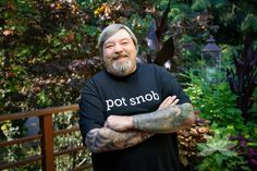 """""""Do you consider yourself a cannabis connoisseur? Are you extra picky about your bud? Now you can display your Pot Snob status with pride with your very own T-Shirt.These shirts are made from the finest organic cotton and come in a standard """"male"""" cut."""""""