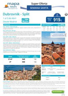Dubrovnik-Split Semana Santa desde Madrid**Precio final desde 919** ultimo minuto - http://zocotours.com/dubrovnik-split-semana-santa-desde-madridprecio-final-desde-919-ultimo-minuto-2/