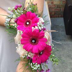 Wrist Corsage - Gerber daisies