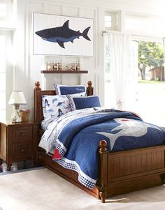 cruz' shark bedroom shark comforter & sham #pbkids | future home