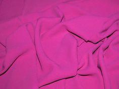 Fabulous Quality Fuchsia Heavy Triple Crepe Designer Dress Fabric - per metre Preview