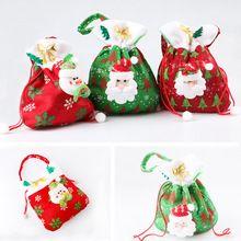 Saco da lona saco de papai noel natal papai Noel saco do presente saco 3 estilos entrega rápida alishoppbrasil