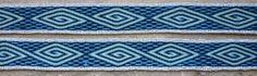 Brettchenborte, 3 cm breit (keltische Doppelspirale) ,Meterware | eBay tablet woven by  webenspecies