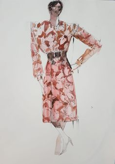 Look at these vintage beauties! Original pen and watercolour drawings from the late 1960s - early 1970s by Frank Charlson, on view and for sale in wigan art gallery now! Hurry before they're snapped up! #vintage #wiganart #fashion #connectingwigan 