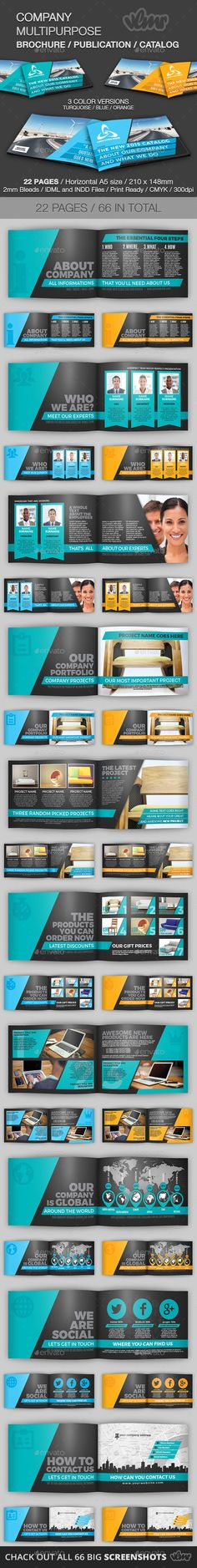 Company Multipurpose Brochure Template #design Download: http://graphicriver.net/item/company-multipurpose-brochure-template/11478675?ref=ksioks