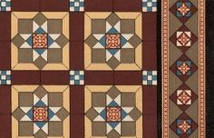 Tiles.   Encaustic tiles [tessellated pavement] no. 284 [plate 9], Malkin Edge & Co. Patent Encaustic Tile Works Burslem: c 1885 catalogue. From HHT Digital Trade Catalogues Collection.
