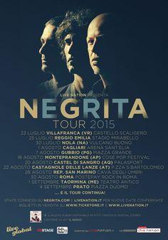 News di Spaghetti italiani - NEGRITA: ecco le prime date confermate del tour estivo